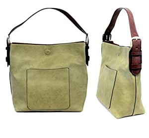 Amazon Com Joy Susan L8008 03 Hobo Bag In Guilford Green With Brown Handle Sports Amp Outdoors