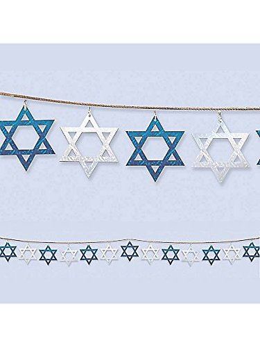 Hanukkah String Prismatic Garland 9ft