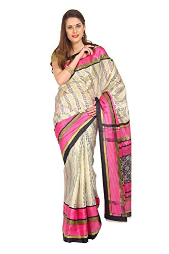 Parchayee Women Synthetic Sarees (91430 _Beige _Free Size)