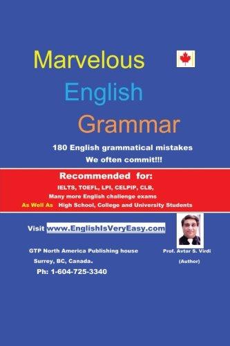Marvelous English Grammar: 180 English Grammatical Mistakes