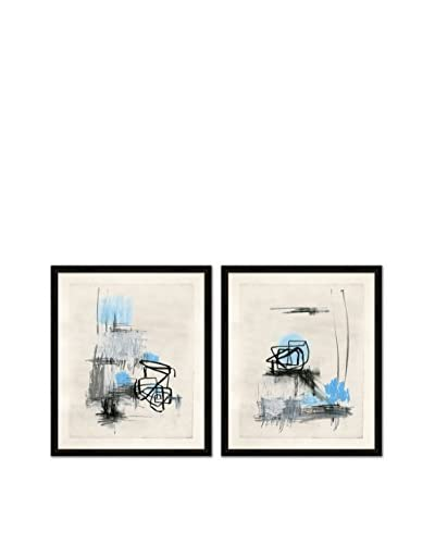 Soicher Marin Set of 2 Thunder And Lighting Giclée Reproductions, Black/Blue