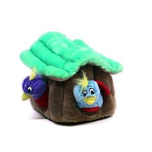 Kyjen PP01054 Hide-A-Bird Dog Toys Interactive Plush Squeak 4-Piece Toy, Large, Multicolor