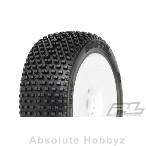 ProLine 9045034 Bow-Tie 2.0 X4 Super Soft Off-Road 1/8 Buggy Tires, White (Proline Bowtie Tires Mounted compare prices)