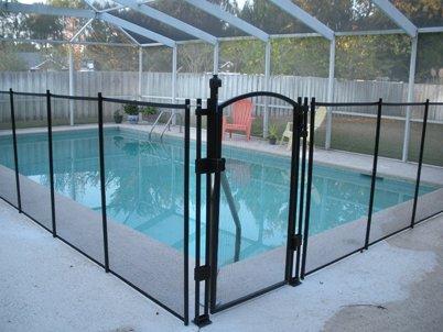 EZ-Guard 4' Tall Self Closing / Self Latching Pool Fence Gate -Black (EZGate4B)