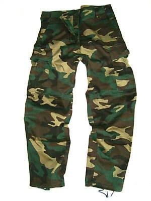 Boys 3-4 Army Combats Woodland Camouflage Soldier Cargo Trousers