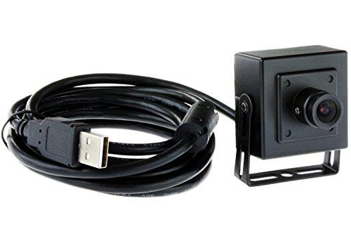 ELP Metallgehäuse 1.3 Megapixel 960p USB-Kamera-Modul für Low Light auf Linux / Android / Windows / Mac (2.8mm Objektiv)