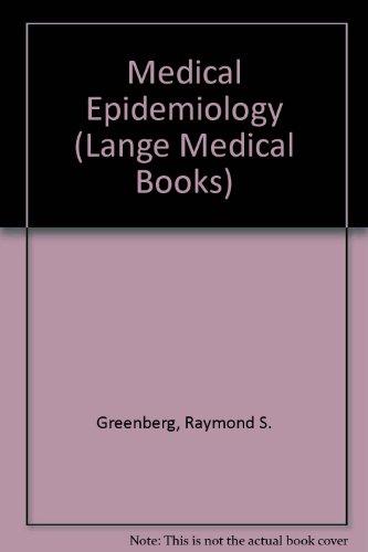 Medical Epidemiology (Lange Medical Books)