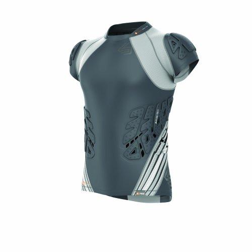 Shock Doctor Men/'s Shockskin 3-Pad Short Sleeve Impact Shirt Large Black//Grey