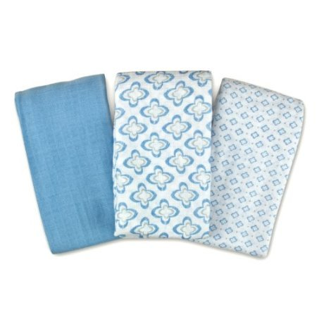 Swaddleme Muslin Blanket, Distress Geo, 3-Pack front-705167