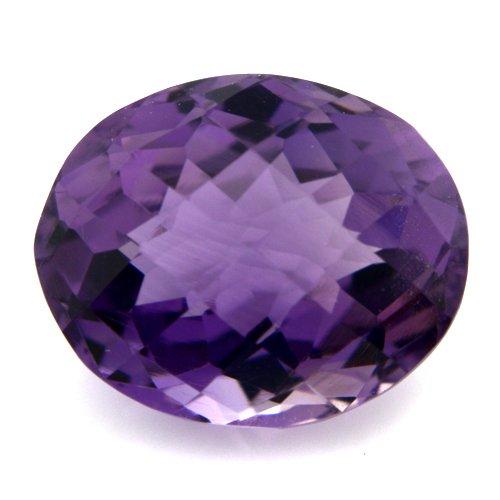Natural Purple Amethyst Loose Gemstone Oval Cut Checker Board 13*10mm 6.70cts