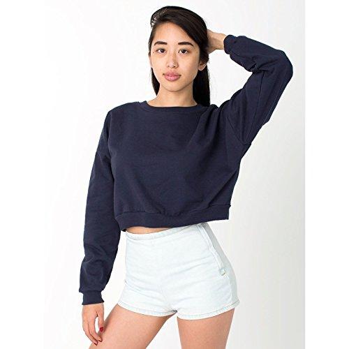 american-apparel-damen-california-fleece-sweatshirt-kurze-lange-einheitsgrosse-marineblau