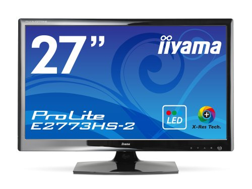 iiyama WLED backlight with 27 Widescreen LCD display ProLite E2773HS-GB2