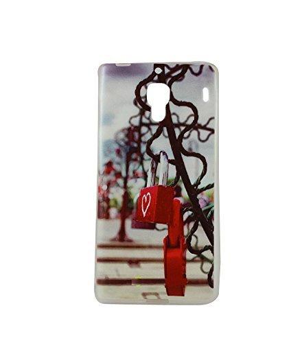 Exclusive Soft Silicone TPU 0.33m Back Case Cover For HTC Desire 620 / 620G dual sim - Love Lock