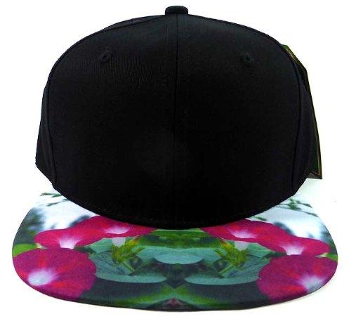 6-panel-blank-strapback-hats-caps-fashion-morning-glory-flower