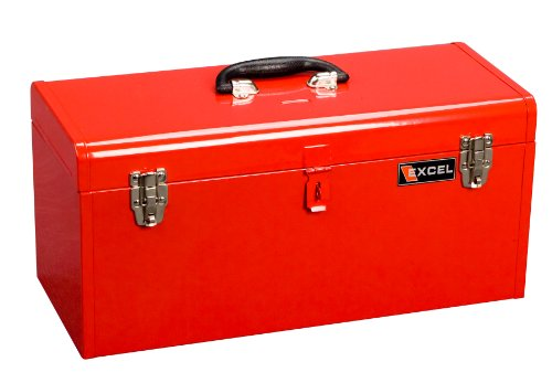 Excel TB140-Red Steel Tool Box with 1 Metal Tray, Red (Steel Toolbox Hinge compare prices)