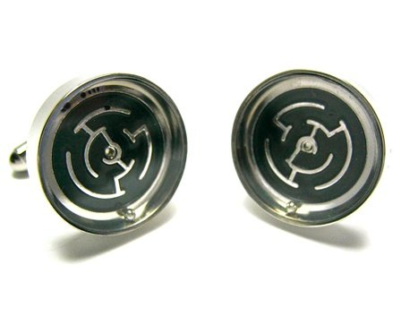 Silver Functioning Maze Puzzle Game Cufflinks