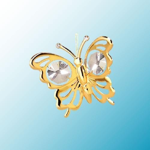 Mini Butterfly ... Hanging Sun Catcher or Ornament..... With Clear Swarovski Austrian Crystals (Crystal Butterfly Ornament compare prices)