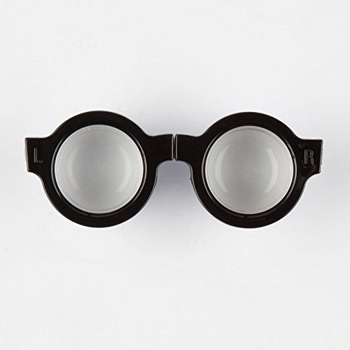 KIKKERLAND Retro Specs Contact Lens Case, Black/White