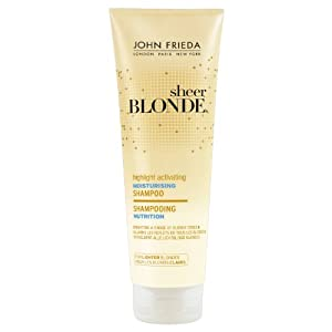 John Frieda Sheer Blonde Highlight Activating Moisturising Shampoo for Lighter Blondes 250ml