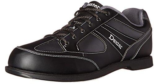 Herren Bowlingschuhe Dexter Pro Am II black grey Alloy, Semi Profi, rechtshand schwarz Black/Grey Alloy US 7.5, UK 6