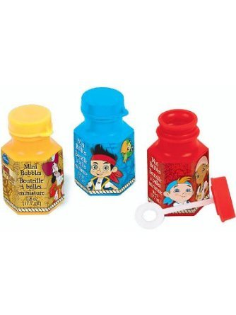Jake and the Never land Pirates Mini Bubble Bottles, 12 per package