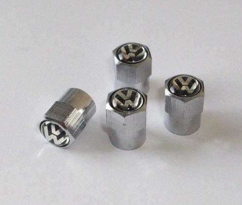 vw bouchons de valve de pneus avec logo pour golf gti tdi passat r32 polo jantes en. Black Bedroom Furniture Sets. Home Design Ideas