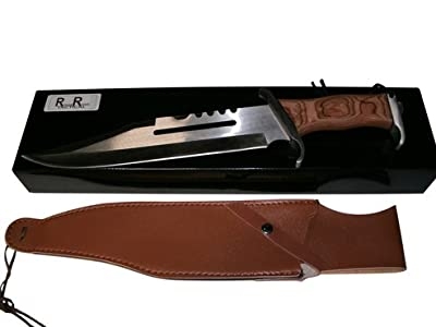 Rogue River Tactical Big Jim Large Bowie Knife with Sheath Best Hunting and Survival Knife from Rogue River Tactical