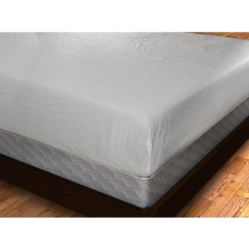 Vinyl Fitted Mattress Cover (6 Gauge), Twin Xl front-1001720