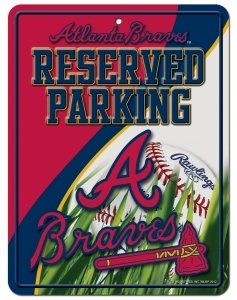 MLB Atlanta Braves Parking Sign