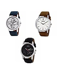 Oura Analog Round Formal Official Wear Watch For Men Combo Of 3pc