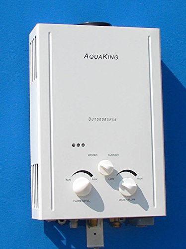 Aquaking Outdoorsman Tankless Water Heater - Propane (LPG) - Portable - Battery Powered Ignition - Camping - RV (Rv Propane Tankless Water Heater compare prices)