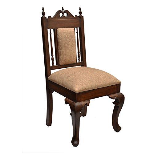 Exclusivelane Maharaja Teak Wood Chair (Brown)