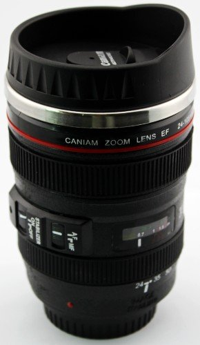105mm Canon DSLR Camera Lens Travel Coffee Mug