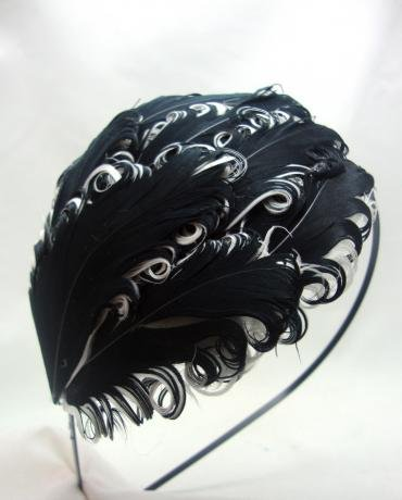 Black And White Hair Color Styles. NEW Black and White Curly Feather Headband, Limited. Overview Black and White Curly Feather Headband - Unique Vintage Style Quality Feathers