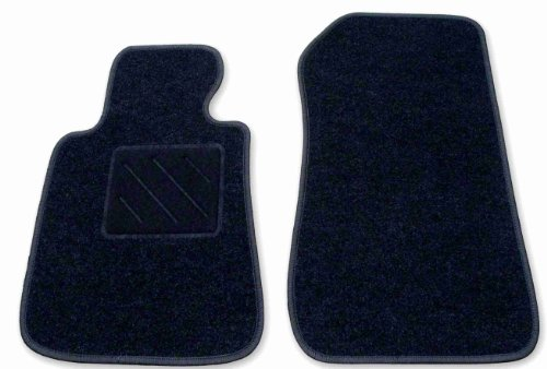 """Stabile Passform Fussmatte """"ACTION"""" schwarz DUO für Mercedes E-Klasse W211 / S211 Limousine / T-Modell Kombi Bj. 03/02 - 02/09 mit Mattenhalter vorne (Druckknopf)"""