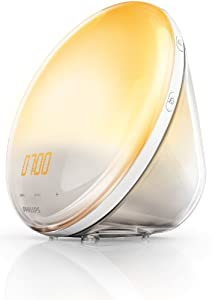 Philips Wake-Up Light Alarm Clock HF3520/01 Coloured Sunrise Simulation - 5 Sounds and Radio Function