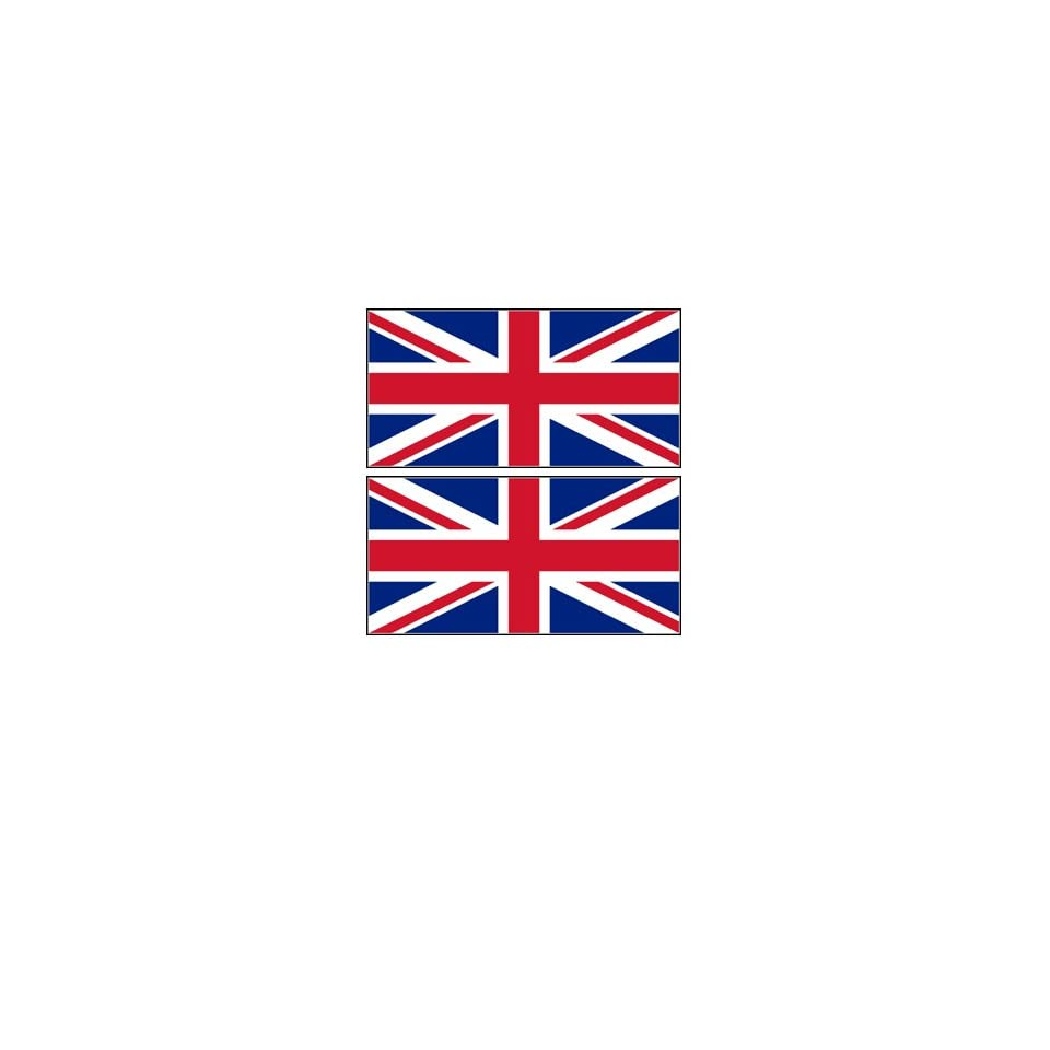 2 Great Britain Flag Stickers Decal Bumper Window Laptop Phone Auto Boat Wall