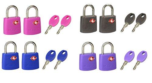 Master Lock 4695EURTAST Set di 2 Lucchetti TSA, 30 mm, colori assortiti