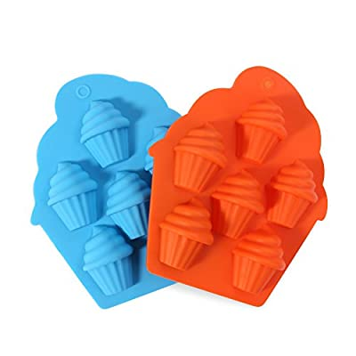 Candy Making Molds, 2PCS YYP [6 Cavity Ice-Cream Cone Shape Mold] Silicone Candy Molds for Home Baking - Reusable Silicone DIY Baking Molds for Candy, Chocolate or More, Set of 2