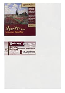 Masterpiece Artist Canvas Monet Pro Canvas 9-Inch by 12-Inch, Acrylic Primed Muir Belgian Linen