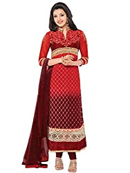 Vibes Pure Georgette Dress Material (V179-46018_Red)