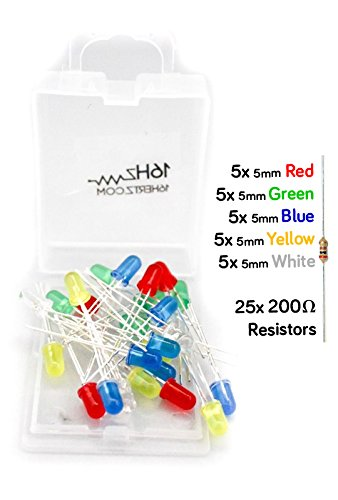 5Mm Led W. Resistors [5 Colors, Pack Of 25] W. Product Guide