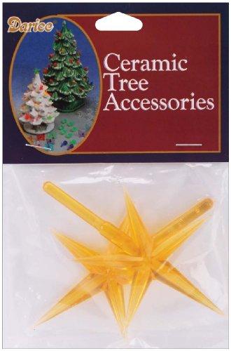 Ceramic Christmas Tree Star 3.875