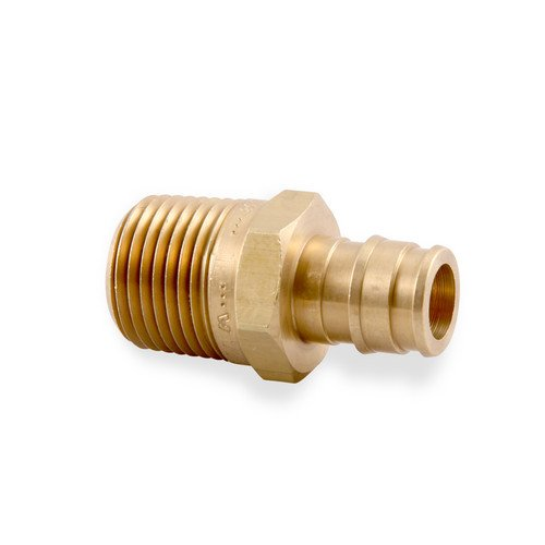 1 pex x 3 4 male threaded adapter brass crimp fitting for Types of pex