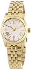 Michael Kors Silver Dial Gold-tone Stainless Steel Ladies