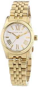Michael Kors Silver Dial Gold-tone Stainless Steel Ladies Watch MK3229