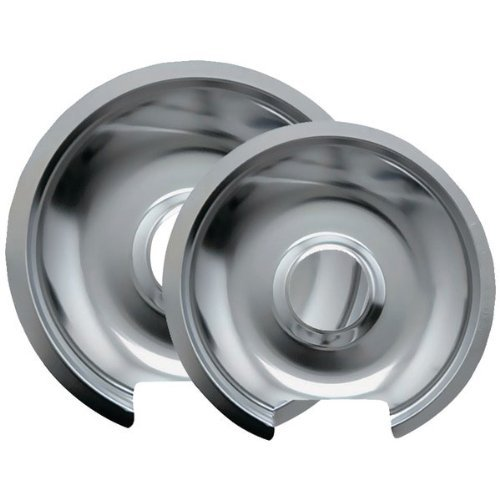 Range Kleen 10562X Style D Chrome Drip Pans, 2-Pack front-4645