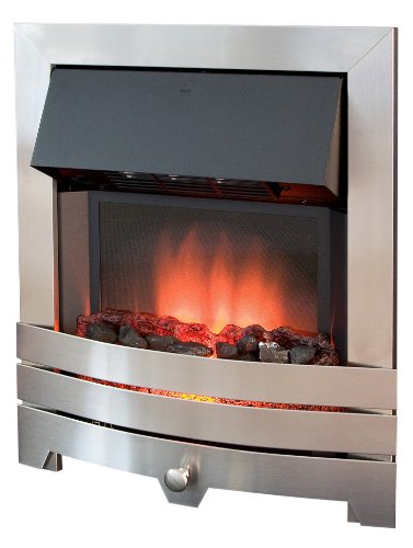 Royal Cozy Fire RCF5 Electric Fire, Brushed Stainless Steel