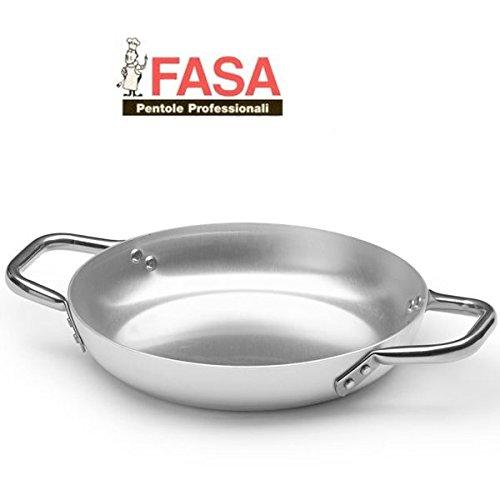 Tegame Due Maniglie professionale della FASA diametro 24cm in alluminio puro 99% MADE IN ITALY