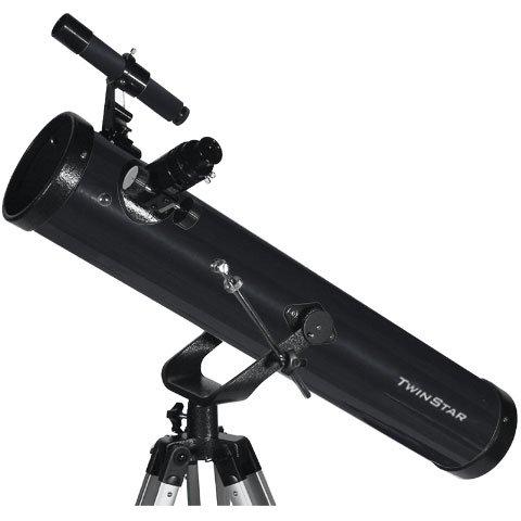 "Black Twinstar Firststar 3"" Reflector Telescope Kids Pak Bundle"